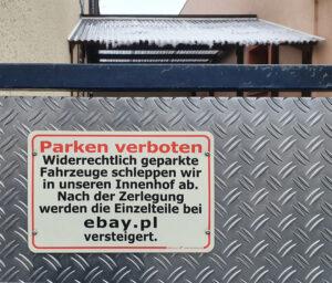 Freier Parkplatz! – Hans Werner